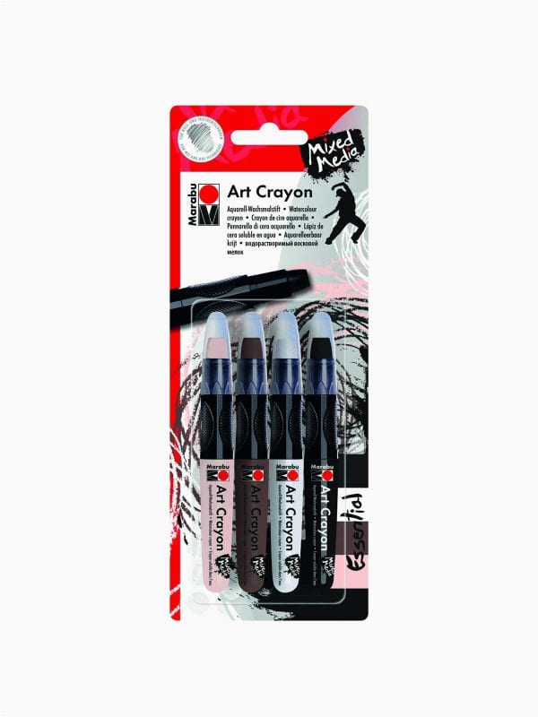 Marabu Art Crayon blister assortment of 4 ESSENTIAL
