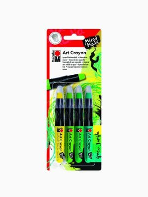 Marabu Art Crayon blister assortment of 4 GREEN JUNGLE