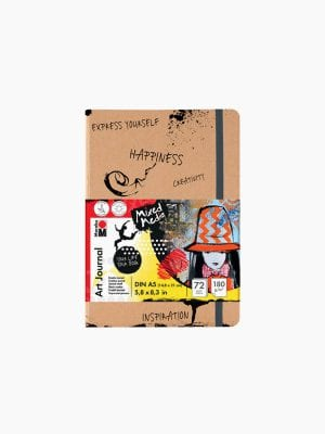 Marabu Art Journal Notebook, DIN A5, 14,8 x 21 cm, 180 g/m², 72 sheets