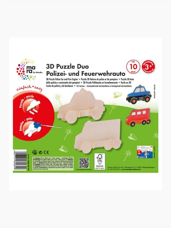 mara 3D Puzzle Police car and Fire engine