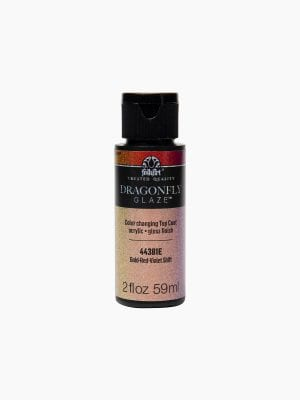Folk Art Dragonfly Glaze Multisurface Paint - Gold-Red-Violet 2Oz
