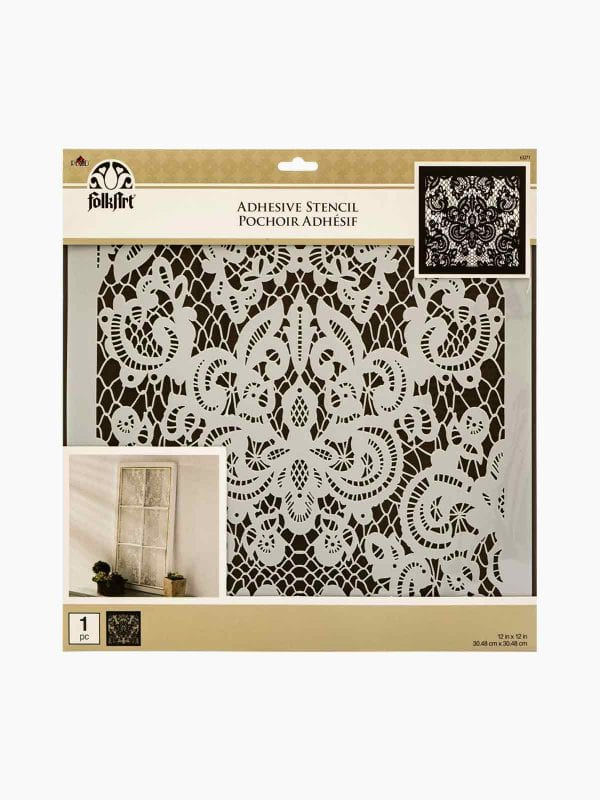 Folk Art Large Painting Stencil- Delicate Lace