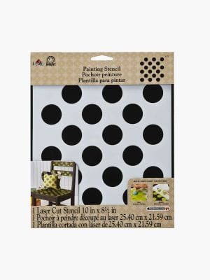 Folk Art Large Painting Stencil- Polka Dot
