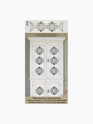 Folkart Home Decor Stencil Elegant Damask