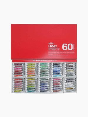 Holbein Artists' Watercolors Set of 60 Colors