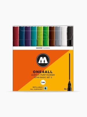 MOLOTOW 127HS Basic-Set 2 - 2mm, Pkt of 10