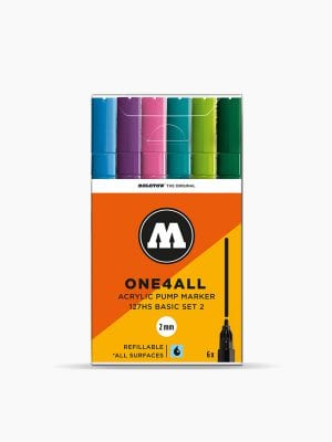 MOLOTOW 127HS Basic-Set 2 - 2mm, Pkt of 6