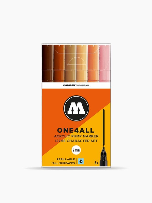 MOLOTOW 127HS Character-Set - 2mm, Pkt of 6