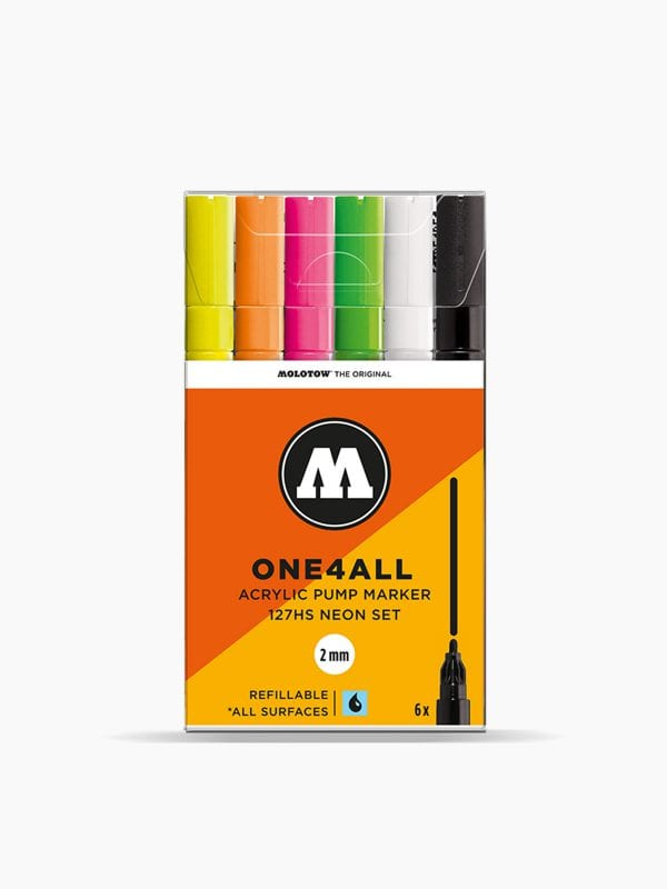 MOLOTOW 127HS Neon-Set - 2mm, Pkt of 6