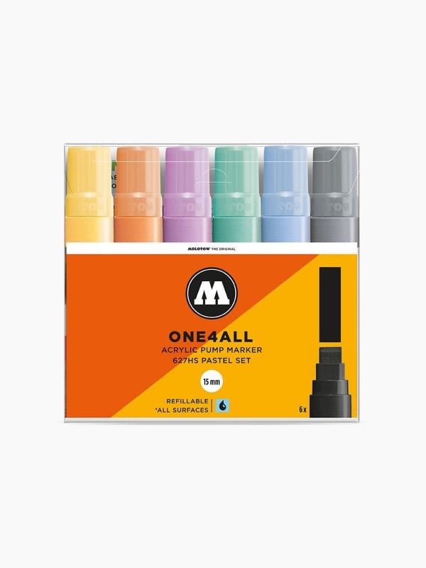 MOLOTOW 627HS Pastel-Set - 15mm pkt of 6