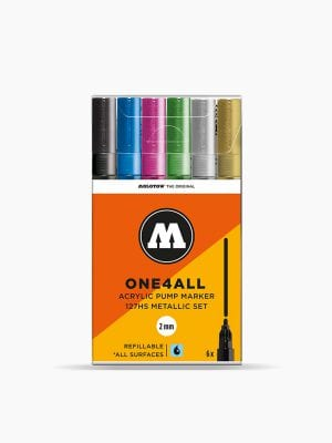 MOLOTOW 127HS Metallic-Set - 2mm, Pkt of 6