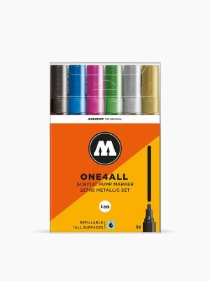 MOLOTOW™-227HS-Metallic-Set---4mm,-Pkt-of-6