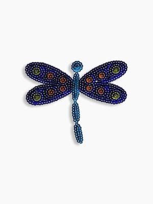 Plaid Sparkly Sequin Ioa-Dragon Fly